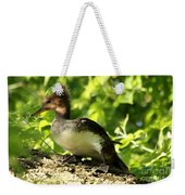 Immature Hooded Merganser Weekender Tote Bag