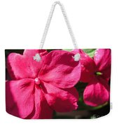 Impatiens Named Dazzler Burgundy Weekender Tote Bag