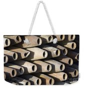 Inert Artillery Shells Are Stacked Weekender Tote Bag