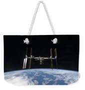 International Space Station Backdropped Weekender Tote Bag