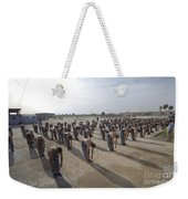 Iraqi Police Cadets Being Trained Weekender Tote Bag