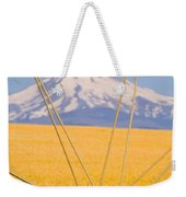 Irrigation Pipe In Wheat Field With Weekender Tote Bag