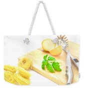 Italian Food Weekender Tote Bag by Tom Gowanlock
