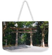 Japanese Entrance Gate On A Sunny Day Weekender Tote Bag