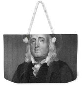Jeremy Bentham (1748-1832) Weekender Tote Bag