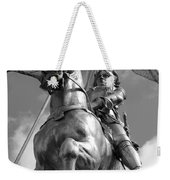 Joan Of Arc Statue French Quarter New Orleans Black And White Weekender Tote Bag