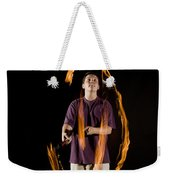 Juggling Fire Weekender Tote Bag