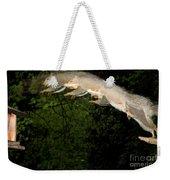 Jumping Gray Squirrel Weekender Tote Bag