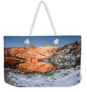 June Snowfall At Angel Lake Weekender Tote Bag