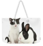 Kitten And Dutch Rabbit Weekender Tote Bag