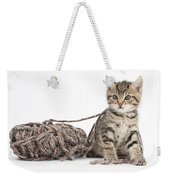 Kitten With Yarn Weekender Tote Bag