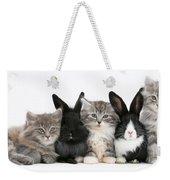 Kittens And Rabbits Weekender Tote Bag