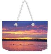 Lagerman Reservoir Sunrise Weekender Tote Bag