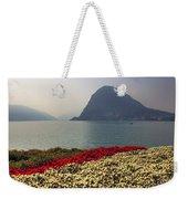 Lake Lugano - Monte Salvatore Weekender Tote Bag by Joana Kruse