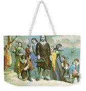 Landing Of The Pilgrims At Plymouth Weekender Tote Bag