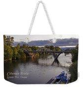 Last Light On Caveman Bridge Weekender Tote Bag