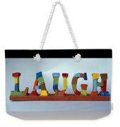 Laugh Weekender Tote Bag by Cynthia Amaral