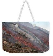 Lava Flow During Eruption Of Mount Etna Weekender Tote Bag