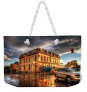 Left Turn In The Rain Weekender Tote Bag