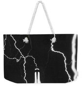 Lightning Strikes Empire State Weekender Tote Bag
