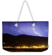 Lightning Striking Over Ibm Boulder Co 2 Weekender Tote Bag