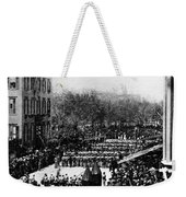 Lincolns Funeral Procession, 1865 Weekender Tote Bag by Photo Researchers