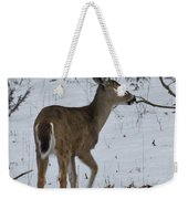 Little White Tail On The Move Weekender Tote Bag