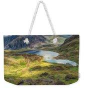 Llyn Idwal Lake Weekender Tote Bag by Adrian Evans