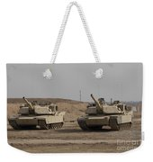 M1 Abrams Tank At Camp Warhorse Weekender Tote Bag