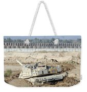 M1 Abrams Tank Is Bogged When Trying Weekender Tote Bag