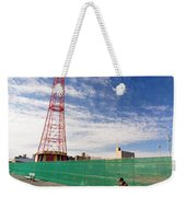 Man On A Bench Weekender Tote Bag