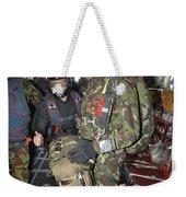 Members Of The Pathfinder Platoon Wait Weekender Tote Bag