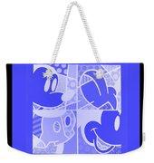 Mickey In Negative Light Blue Weekender Tote Bag