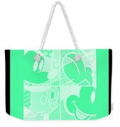 Mickey In Negative Light Green Weekender Tote Bag