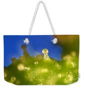 Microscopic View Of Cannabis Sativa Weekender Tote Bag