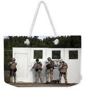 Military Reserve Members Prepare Weekender Tote Bag by Michael Wood