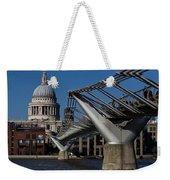 Millenium Bridge And St Pauls Cathedral Weekender Tote Bag