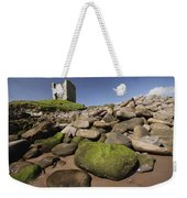 Minard Castle And Rocky Beach Minard Weekender Tote Bag
