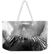Miniature Tall Bearded Iris Named Consummation Weekender Tote Bag