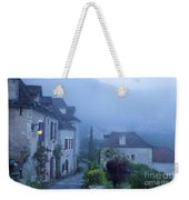 Misty Dawn In Saint Cirq Lapopie Weekender Tote Bag