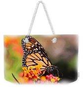 Monarch And Milkweed Weekender Tote Bag