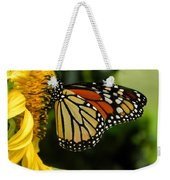 Monarch And The Sunflower Weekender Tote Bag