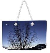 Moon And Venus Conjunction Weekender Tote Bag