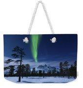 Moonlight And Aurora Borealis Weekender Tote Bag