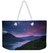 Mountains Along The Coastline Under A Weekender Tote Bag