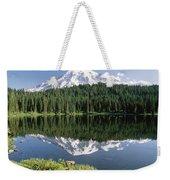 Mt Rainier Reflected In Lake Mt Rainier Weekender Tote Bag