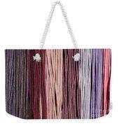 Multi-colored Striped Fabrics Weekender Tote Bag