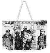 Nast: Tweed Ring Cartoon Weekender Tote Bag by Granger