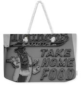 Nathan's Famous In Black And White Weekender Tote Bag