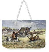 Native American Attack On Coach Weekender Tote Bag